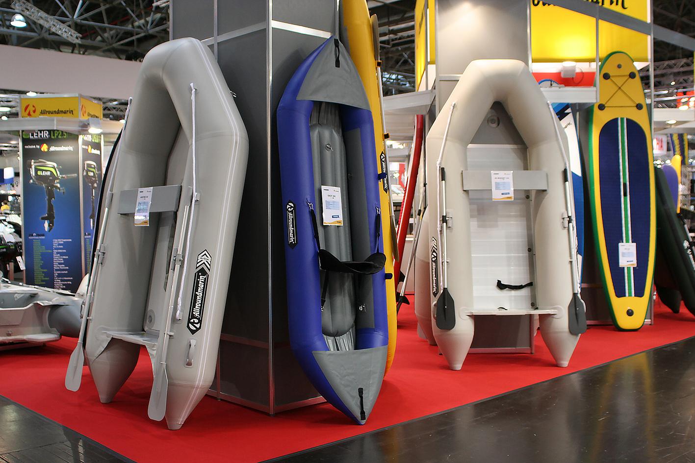 Messestand Messe Düsseldorf Schlauchboote Allroundmarin